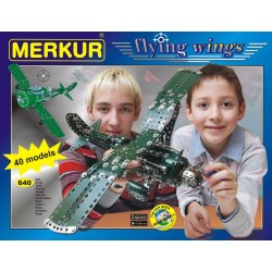 Stavebnice MERKUR Flying wings 40 modelů 640ks v krabici 36x27x5cm
