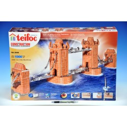Stavebnice Teifoc Tower Bridge 1000ks v krabici 55x37x15cm